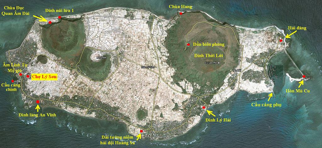 Bản đồ Đảo Lớn Lý Sơn